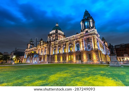 The city hall of Belfast North Ireland, Belfast city, Northern Ireland, UK - stock photo