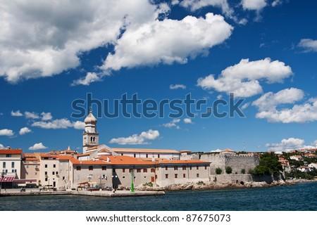the city Krk - Croatia - stock photo