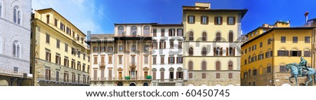 The City of Florence,Panorama,  Italy - stock photo