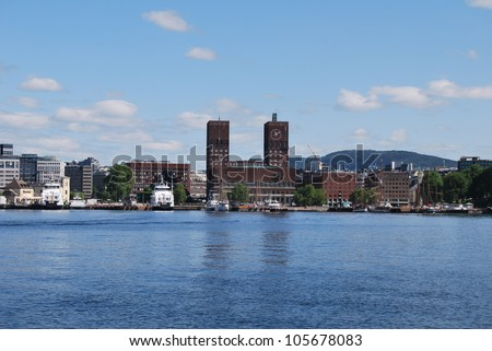 the city of Oslo in Norway - stock photo