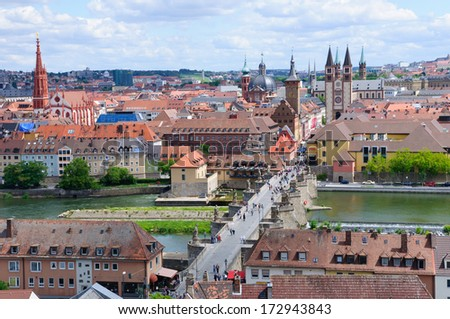 The City of Wurzburg in Germany - stock photo