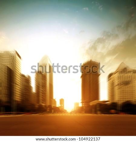 The city's streets - stock photo