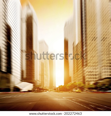 The city's streets and car - stock photo