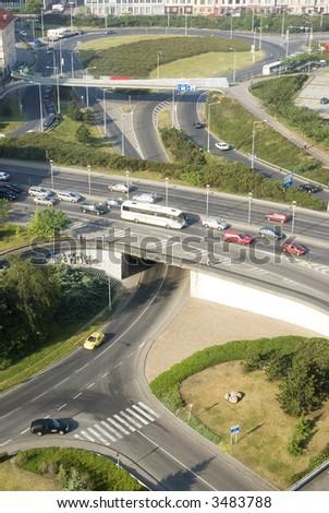 The city traffic - stock photo