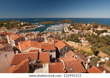The city Vrsar - Croatia - stock photo