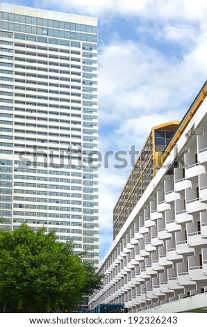 The Cityscape of High Building in The Town. - stock photo