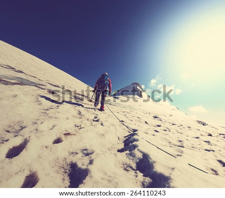 The climb - stock photo