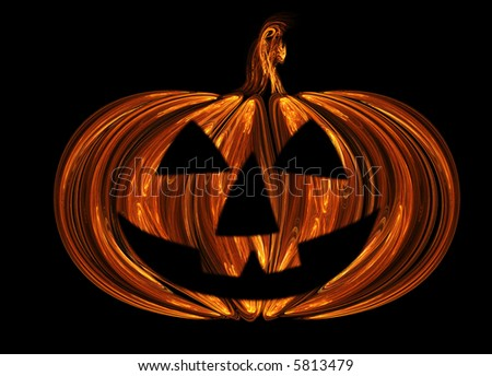 The close up view of the pumpkin - stock photo