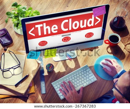 The Cloud Data Center Technology Online Internet Concept - stock photo