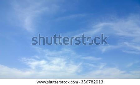 The cloud on sky - stock photo