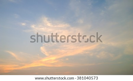 The cloud on sunset - stock photo