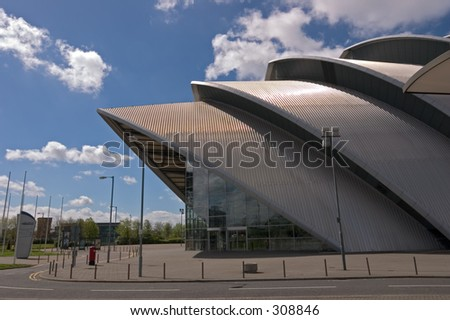 "The Clyde Auditorium, Glasgow, better known locally as ""The Armadillo"" - stock photo"