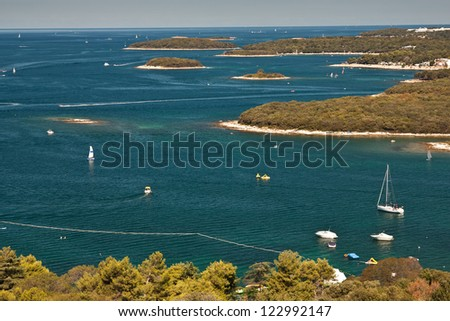The coast in city Vrsar - Croatia - stock photo