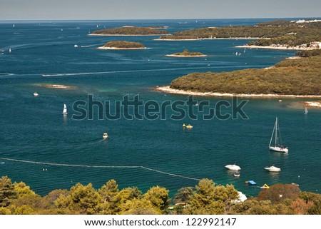 The coast in city Vrsar - Croatia - stock photo