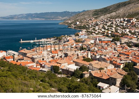 the coast of city Senj - Croatia - stock photo
