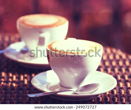 The Coffee Espresso. Cup Of Coffee - stock photo