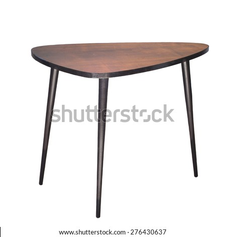 The coffee table in the style of the sixties, isolated on white background - stock photo