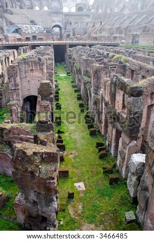The Coliseum Underground - stock photo