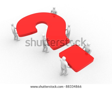 The collective decision of a question. Business concept - stock photo