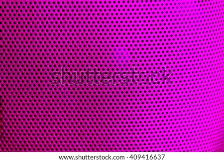 The color filter grid guard of loudspeaker represent the speaker and sound device concept related idea. - stock photo