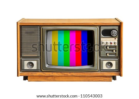 The color of the television. - stock photo