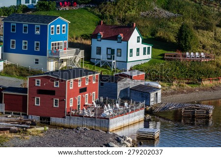The colorful fishing village of Trinity, Newfoundland, Canada. - stock photo