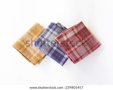 The colorful handkerchief isolated on the white background - stock photo