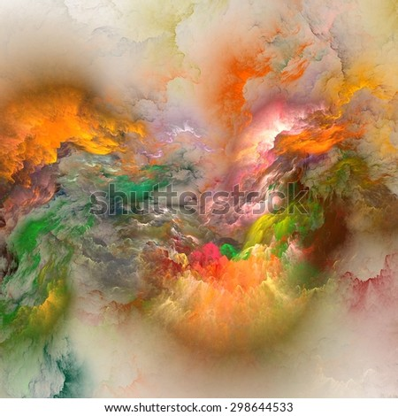 The colors in the series, Fancy paint. Background consists of fractal color texture and is suitable for use in projects on imagination, creativity and design  - stock photo