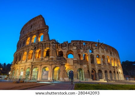 The Colosseum in Rome - stock photo