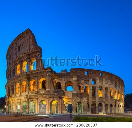 The Colosseum in Rome - stock photo