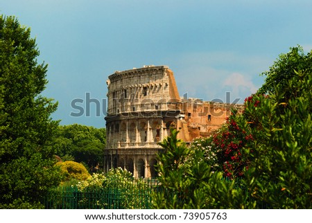 The Colosseum in Rome Italy - stock photo