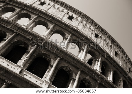 The Colosseum or Coliseum in Rome. - stock photo