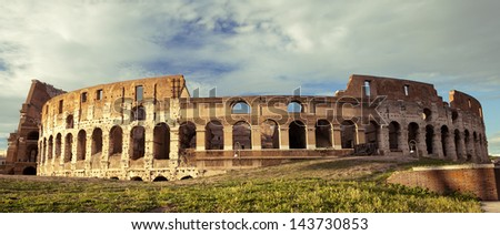 The Colosseum, world famous landmark in Rome, Italy - stock photo