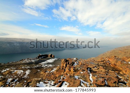 The Columbia River in Winter - stock photo