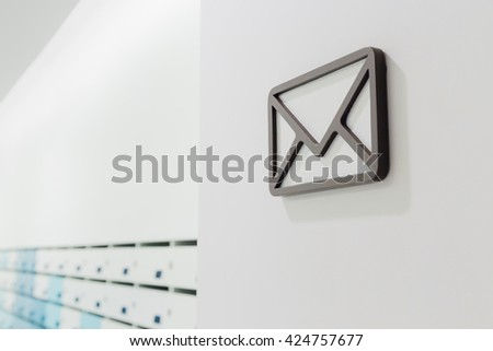The communication by mail in condo - stock photo