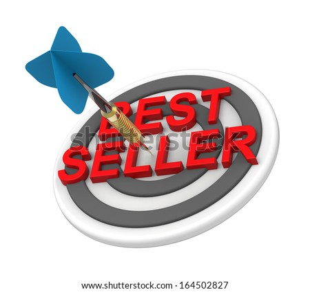 The concept of bestseller sign. Computer generated 3D photo rendering. - stock photo