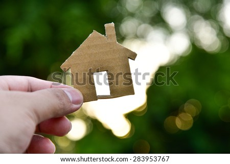 The concept of building houses - stock photo