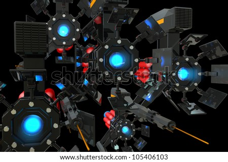 The concept of digital recording - stock photo