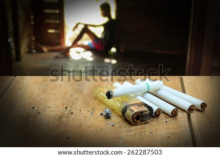The concept of drug problems in youth. - stock photo
