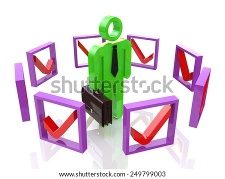 The concept of making the right decisions  - stock photo