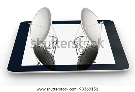 the concept of mobile high-speed Internet - stock photo