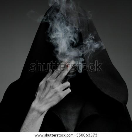 "The concept ""smoking kills"" - stock photo"