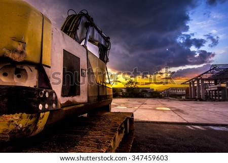 The construction site after work  - stock photo