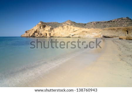 The Cookers Beach ( Los Cocedores ) in Almeria, Spain  - stock photo