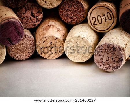 The Corks pattern of wine bottles corks. - stock photo