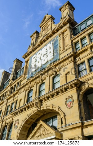 The Corn Exchange, manchester, UK - January 27: The popularity of the Corn Exchange in Manchester on January 27th 2013 has spurred on a redevelopment process for the area. - stock photo