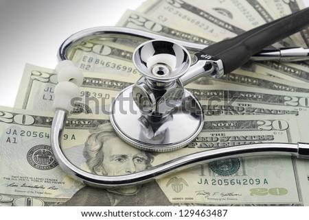The cost of healthcare - stock photo