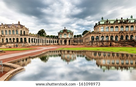 The courtyard of Zwinger in Dresden, Germany. - stock photo
