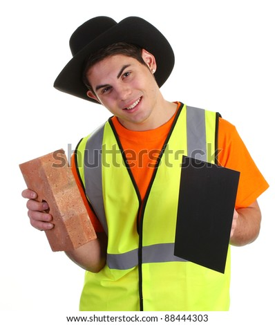 The cowboy builder - stock photo