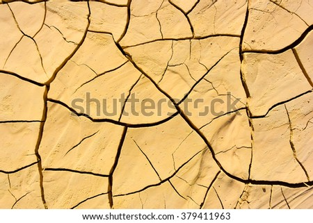 The crackled earth - stock photo